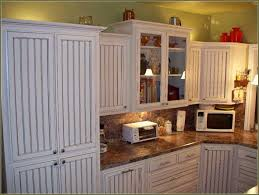 White Beadboard Kitchen Cabinets Kitchen White Beadboard Kitchen Cabinet Doors Combined With