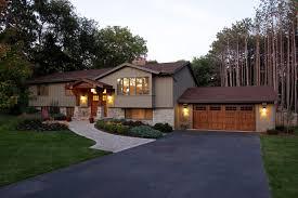 split level front porch designs traditional split level exterior home ideas design photos houzz
