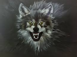 Wolf Mural by Wild Spirit Creations Air Brushing By Sandy Airbrushing