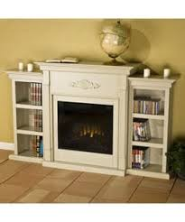 dublin antique white bookcase electric fireplace free shipping
