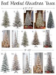 best flocked trees sizes styles