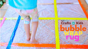 bubble wrap rug pbs parents crafts for kids youtube