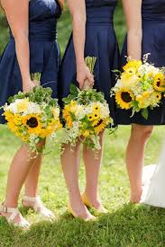 sunflower wedding sunflower wedding flower ideas in season now brides