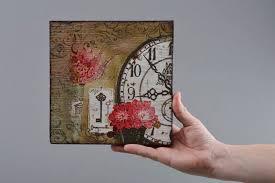 madeheart u003e handmade square decoupage wooden wall panel for home