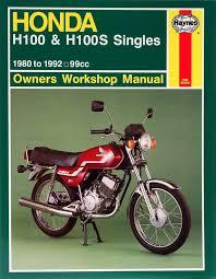 honda h100 u0026 h100s singles 80 92 haynes repair manual haynes