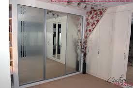 luxury design mirrored closet door ideas with built in and sliding
