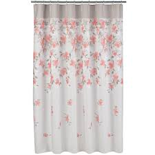 Cloth Shower Curtains Garden Floral Fabric Shower Curtain