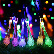 solar powered string lights led solar powered string lights 7m 20led water drop fairy light