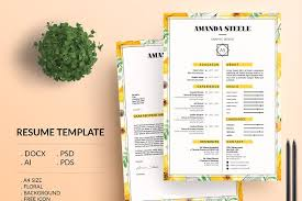 templates for cv free resume templates creative market
