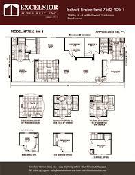 schult floor plans schult timberland 7632 406 1 excelsior homes west inc