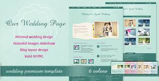 premium wedding websites templates designmodo