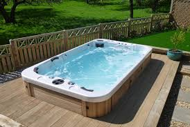 swiming pools hx swim spa on wood patio backyard ideas with dual