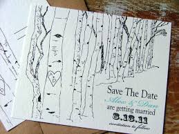 save the date cards aspen trees outdoor wedding save the