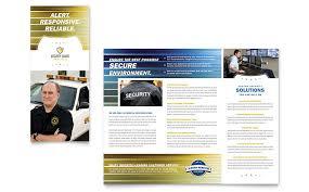 security guard tri fold brochure template word u0026 publisher