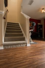 Laminate Flooring Around Stairs Pvc Vinyl U0026 Gray Carpet Flooring Stairwell And Workout Area