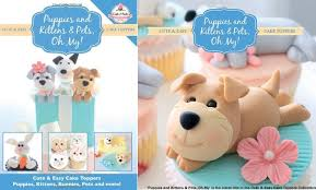 cake topper with dog dog cakes tutorials for puppy dog cake magazine