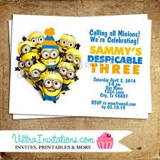 despicable me custom invitations afoodaffair me