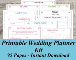 downloadable wedding planner ultimate wedding planner 75 organizational printables