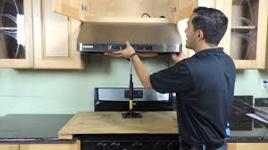 Recirculating Kitchen Hood Under Cabinet Range Hood Installation New Version Youtube