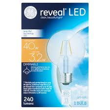 ge reveal 40w equivalent uses 3w clear g25 decorative globe led