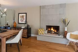 luxury mid century modern fireplace living room