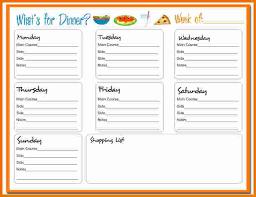 dinner planner template whatsfordinner1 jpg scope of work template
