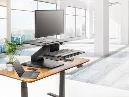sit stand workstation desk converter base stand model monoprice com