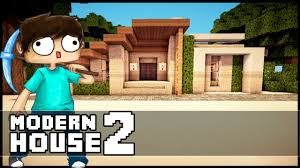 Modern Hosue by Minecraft Let S Build Small Modern House Part 2 Youtube