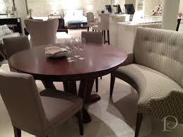 round dining tables bench seating video and photos