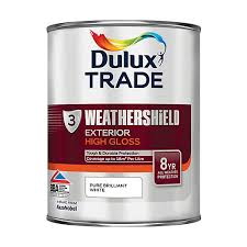 dulux trade weathershield gloss paint pure brilliant white 1l