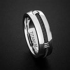 comfort fit titanium mens wedding bands titanium wedding band mens ring polished finish dome with black