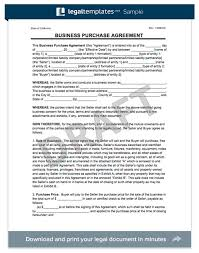business purchase agreement template create a business purchase