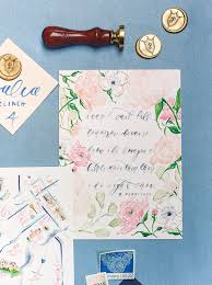 Navy Map Program Our Southern Wedding Our Custom Wedding Invitation Suite