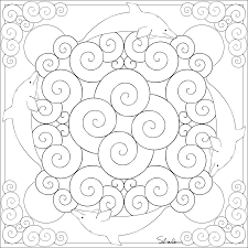 fabulous dolphin mandala coloring pages with advanced mandala