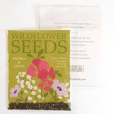 wildflower seed packets grow together wildflower seed packet wedding favors plantable