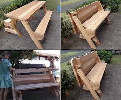 picnic tables folding with seats 2 in 1 seat and picnic table made by donald diy pinterest