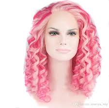 wigs for thinning hair that are not hot to wear pink hair drag queen short kinky curly wigs synthetic lace front