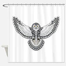 Owl Fabric Shower Curtain Snowy Owl Shower Curtains Snowy Owl Fabric Shower Curtain Liner