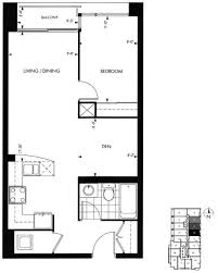 1 Bedroom Condo Floor Plans   18 yorkville avenue annex toronto condominiums 1 bedroom plus den