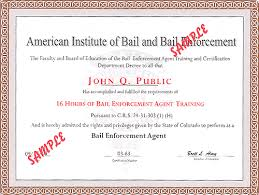 H Certification Letter Bounty Hunter Training Bail Enforcement Certification Information
