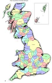 England On A World Map great britain map with counties world map pinterest scotland