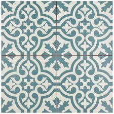 Blue And White Bathroom Tile Blue Ceramic Tile Tile The Home Depot