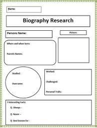 writing a biography graphic organizer biography graphic organizer elementary reading pinterest