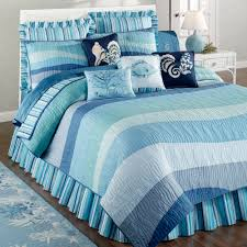 Coastal Quilts Coastal Life Bedding Blue Cottage Seashell Beach Bedspreads Blue