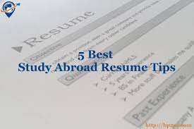 Best Extracurricular Activities For Resume by 5 Best Study Abroad Resume Tips The Best Places To Study Abroad