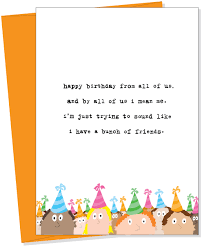 bunch of friends greeting card from uncooked