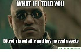 Bitcoin Meme - what ifitold you bitcoin is volatile and has no real assets