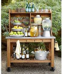 Hutch Theater Upcycle A Hutch Into An Outdoor Bar And Buffet Food Stations