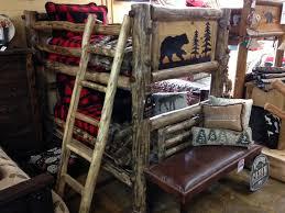 Bradleys Furniture Etc Rustic Log And Barnwood Bunk Beds - Log bunk beds