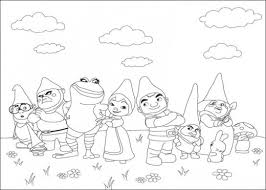 free gnomeo juliet coloring pages free gnomes colour book